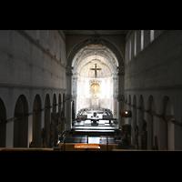Würzburg, Dom St. Kilian, Blick von der Orgelempore zum Chor