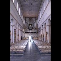 Würzburg, Dom St. Kilian, Blick vom Chor zur Hauptorgel
