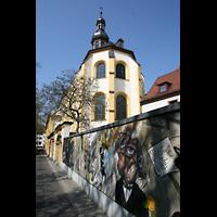 Würzburg, Augustinerkirche, Außenansicht vom Chor aus