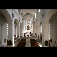 Würzburg, Augustinerkirche, Blick von der Orgelempore in die Kirche