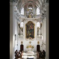 Würzburg, Augustinerkirche, Chorraum mit Chororgel