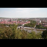 Würzburg, Käppele, Aussicht vom Käppele auf Würzburg