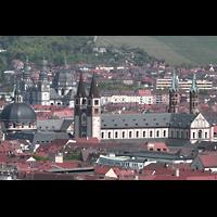 Würzburg, Dom St. Kilian, Dom vom Käppele aus