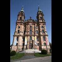 Bad Staffelstein - Vierzehnheiligen, Wallfahrts-Basilika (Hauptorgel), Fassade