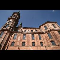Bad Staffelstein - Vierzehnheiligen, Wallfahrts-Basilika (Hauptorgel), Seitenansicht