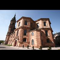 Bad Staffelstein - Vierzehnheiligen, Wallfahrts-Basilika (Hauptorgel), Chor von außen