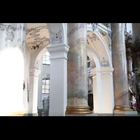 Bad Staffelstein - Vierzehnheiligen, Wallfahrts-Basilika (Hauptorgel), Säulen