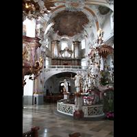 Bad Staffelstein - Vierzehnheiligen, Wallfahrts-Basilika (Hauptorgel), Gnadenaltar und Orgel
