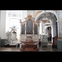 Bad Staffelstein - Vierzehnheiligen, Wallfahrts-Basilika (Hauptorgel), Chororgel und Seitenschiff