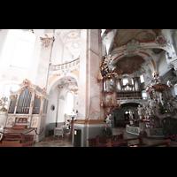Bad Staffelstein - Vierzehnheiligen, Wallfahrts-Basilika (Hauptorgel), Chororgel und Hauptorgel