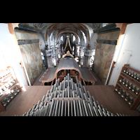Bad Staffelstein - Vierzehnheiligen, Wallfahrts-Basilika (Hauptorgel), Chamaden auf dem Orgeldach