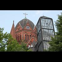 Berlin (Kreuzberg), Heilig-Kreuz-Kirche (Kirche zum Heiligen Kreuz), Kuppel und Glasfahrstuhl
