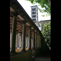 Potsdam, Friedenskirche am Park Sanssouci, Säulengang und Kirchturm