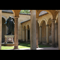 Potsdam, Friedenskirche am Park Sanssouci, Atrium mit Christusstatue