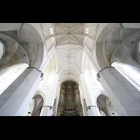 Rostock, St. Marien (Turmorgel), Vierung in Richtung Westwand mit Orgel