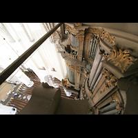 Rostock, St. Marien (Turmorgel), Blick vom Dach der Orgel nach unten