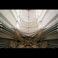 Rostock, St. Marien (Turmorgel), Orgel und Gewölbe