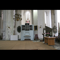 Rostock, St. Marien (Turmorgel), Chorraum mit ehemaliger Chororgel