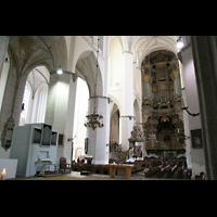 Rostock, St. Marien (Turmorgel), Chororgel (2009 - jetzt nicht mehr vorhanden)) und Hauptorgel