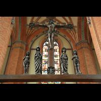Güstrow, Ev.-Luth. Pfarrkirche St. Marien, Triumphkreuzgruppe im Chor