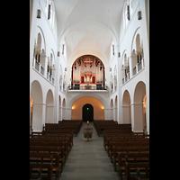 Hamburg, Domkirche St. Marien, Hauptschiff in RIchtung Orgel