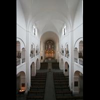Hamburg, Domkirche St. Marien, Blick von der Orgelempore in die Kirche