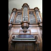 Mainz - Bretzenheim, St. Bernhard, Spieltisch und Orgel
