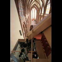 Oppenheim, St. Katharinen, Blick vom Dach der Orgel in die Kirche