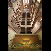 Oppenheim, St. Katharinen, Orgel und Hauptschiff vom Dach der Orgel aus