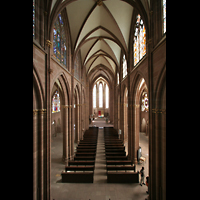 Oppenheim, St. Katharinen, Hauptschiff von der Orgelempore aus