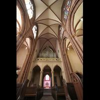 Oppenheim, St. Katharinen, Orgelwand mit Durchgang zum Westchor