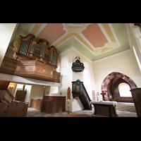 Mühlheim / Eis, Schlosskirche, Orgel und Chorraum