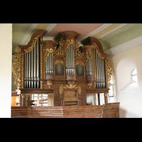 Mühlheim / Eis, Schlosskirche, Orgel von der Seitenempore aus
