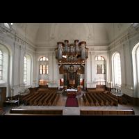 Kirchheimbolanden, St. Paulus, Aussicht von der Mittelempore auf die Orgel