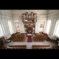Kirchheimbolanden, St. Paulus, Aussicht von der oberen Empore auf die Orgel
