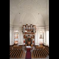 Kirchheimbolanden, St. Paulus, Aussicht von der oberen Empore in die Kirche