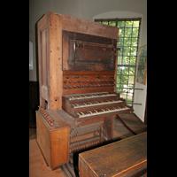 Kirchheimbolanden, St. Paulus, Alter originaler Spielschrank von Stumm