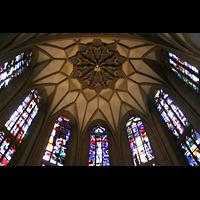 Meisenheim am Glan, Schlosskirche St. Wolfgang, Chorfenster und Gewölbe