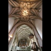 Meisenheim am Glan, Schlosskirche St. Wolfgang, Gewölbe und Blick zur Orgel