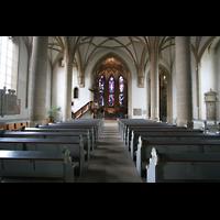 Meisenheim am Glan, Schlosskirche St. Wolfgang, Innenraum / Hauptschiff in Richtung Chor