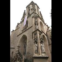 Meisenheim am Glan, Schlosskirche St. Wolfgang, Turm-Detail