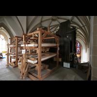 Meisenheim am Glan, Schlosskirche St. Wolfgang, Balganlage der Orgel