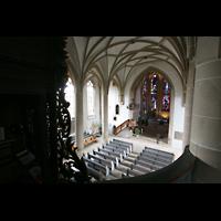 Meisenheim am Glan, Schlosskirche St. Wolfgang, Blick vom Spieltisch in die Kirche