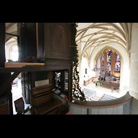Meisenheim am Glan, Schlosskirche St. Wolfgang, Blick von der Orgelmpore in die Kirche
