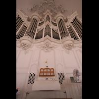 Saarbrücken, Ludwigskirche, Spieltisch und Orgel
