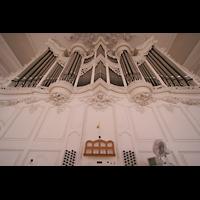 Saarbrücken, Ludwigskirche, Orgel und Spieltisch