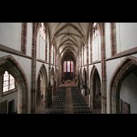 Saarbrücken, Stiftskirche St. Arnual, Blick von der Orgelempore ins Hauptschiff