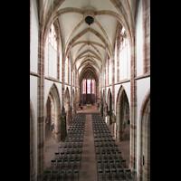 Saarbrücken, Stiftskirche St. Arnual, Blick von der Orgelempore in die Kirche