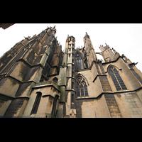 Metz, Cathédrale Saint-Étienne (Langschifforgel), Seitenansicht unt 'Mutte'-Turm