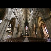 Metz, Cathédrale Saint-Étienne (Langschifforgel), Innenraum / Hauptschiff in Richtung Chor